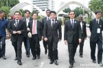 Representatives of the Malaysian Bar walking out of Parliament