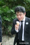 Lim Chee Wee, president of the Malaysian Bar, eating an ice-cream after the march