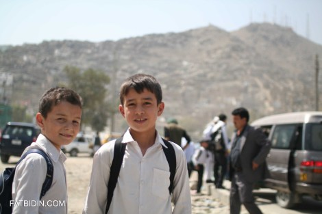 Children on the way to school in Kabul