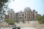 The bullet-riddled Darul Aman Palace