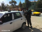 My fixer, Ahmad Bilal Raghbat, at a Kabul petrol kiosk