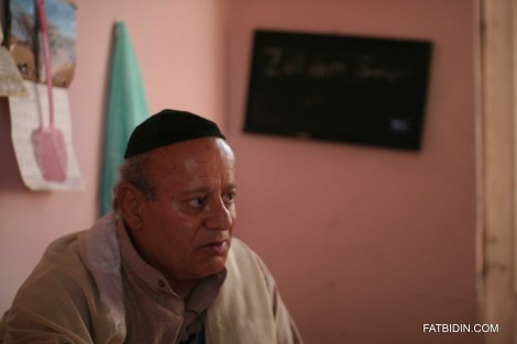 Zebolon Simantov, the last Jew in Afghanistan, in his one room flat.