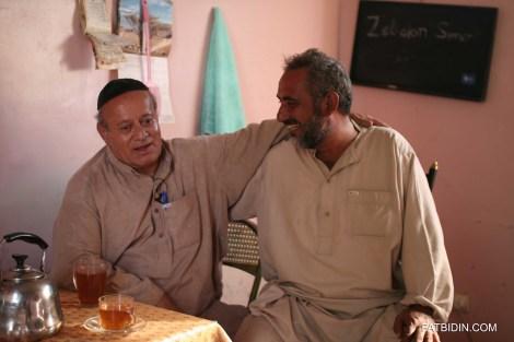 Zebolon Simantov with his best friend, a Muslim, Abdul Shukor.