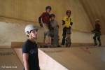 Kids skating at Skateistan, the only skatepark in Kabul.