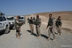 The men of MALCON ISAF 2 taking a cigarette break while on patrol.