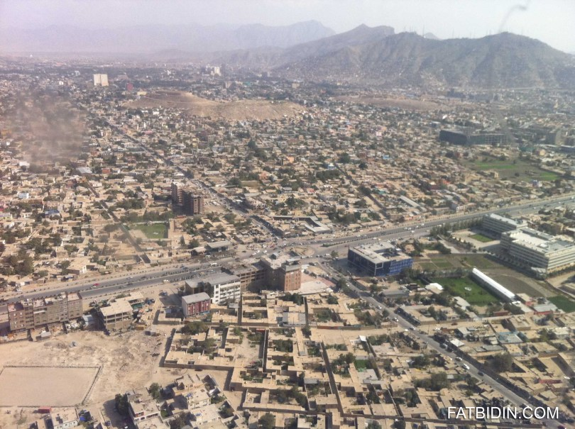 Ariel view of Kabul city.