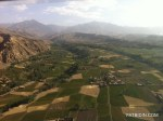 Ariel view of Afghanistan's landscape.