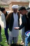 Mullah Ali Muhammadi checking out the filtered water.