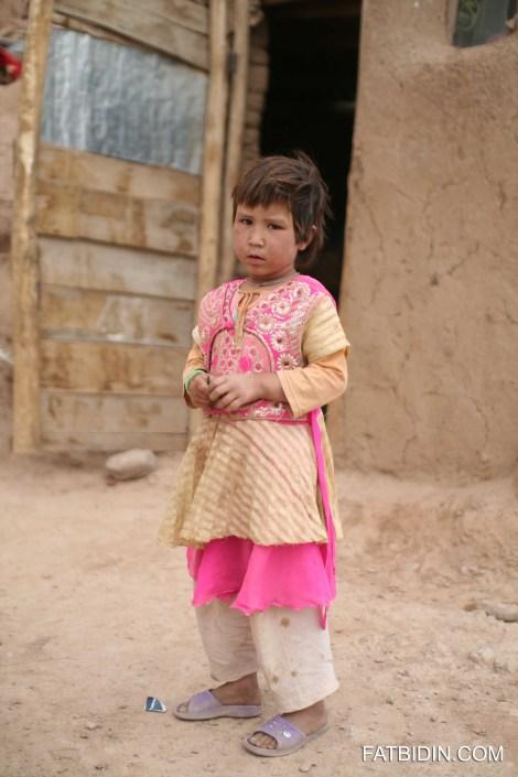 A little village girl in Bamiyan.