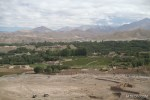 The view of Bamiyan city from the cave village.