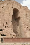The cavity of one of the Buddhas of Bamiyan that was destroyed by the Taliban in 2001.