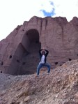 The writer (me!) at the site of the Buddhas of Bamiyan.