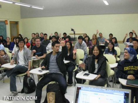 I gave a lecture to a group of students at the University of California, Berkeley, in 2012. It was fun and we had a laugh!