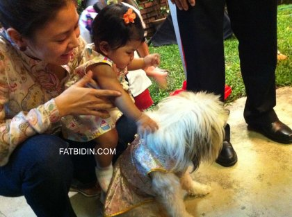 Athena playing with Aunty Leng's dog Angel.