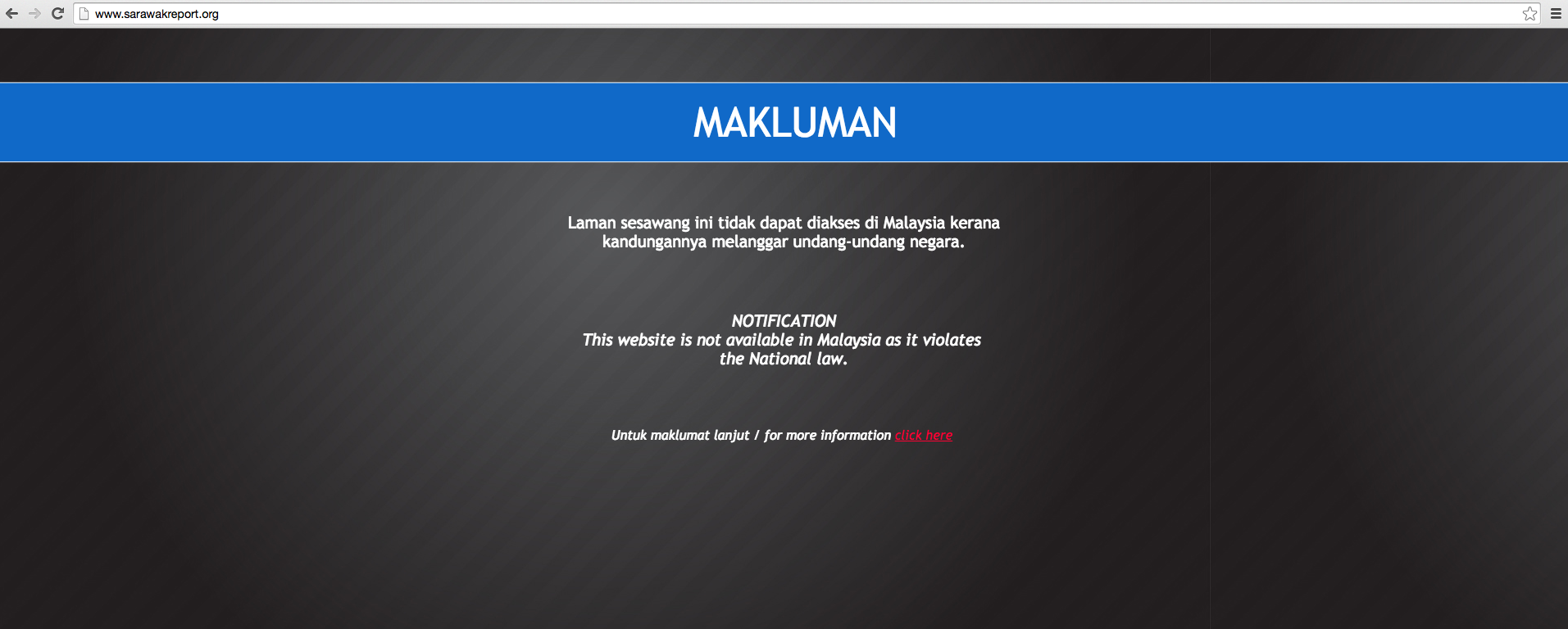 The News Site Sarawakreportorg Has Been Blocked By The Mcmc But Says -4695